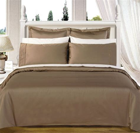 550 tc solid taupe 4pc egyptian cotton comforter sets ebay