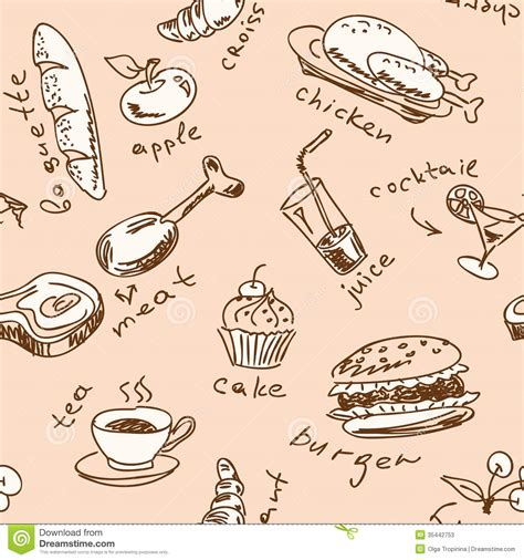seamless pattern food seamless pattern with food stock photos image 35442753