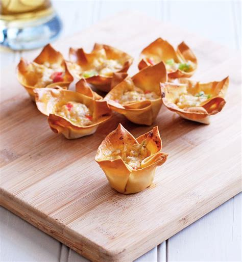 cheesy pork wonton cups