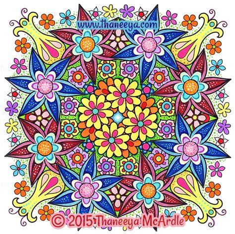 nature mandalas coloring book thaneeya mcardle flower mandalas coloring book by thaneeya mcardle