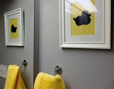 Grey and yellow bathroom modern bathroom toronto by dominika pate interiors