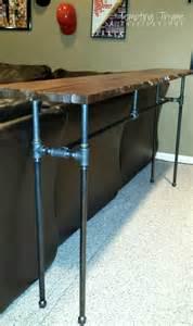 diy industrial pipe table tempting thyme