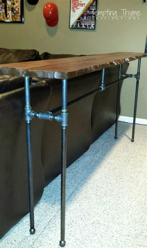 sofa table with pipe legs diy sofa table with pipe legs diy do it your self