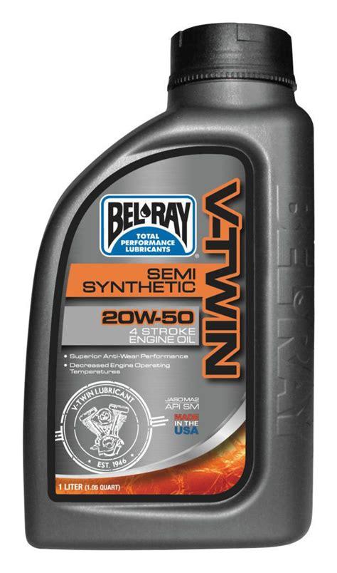 Bel Ray V Twin Semi Synthetic Engine Oil   RevZilla