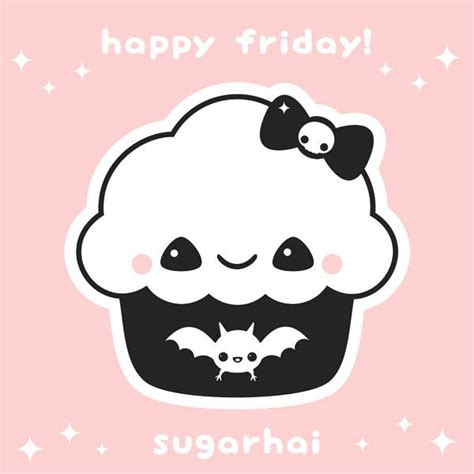 happy friday cupcake  sugarhai kawaii cupcakes