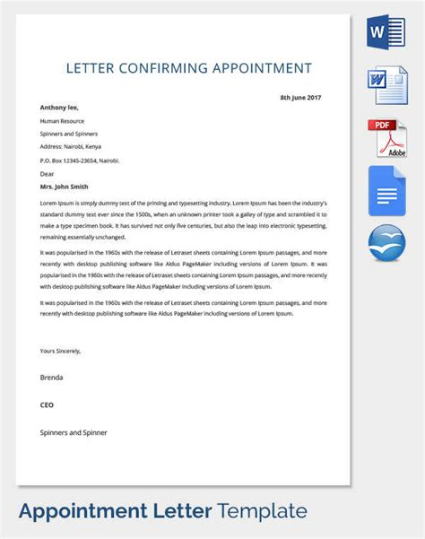 appointment letter generator sle offer letter of employment india appointment