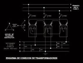 transformer connection diagram dwg block