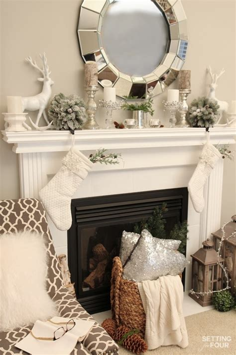 winter mantel decorating ideas setting for four christmas home tour with country living setting for four