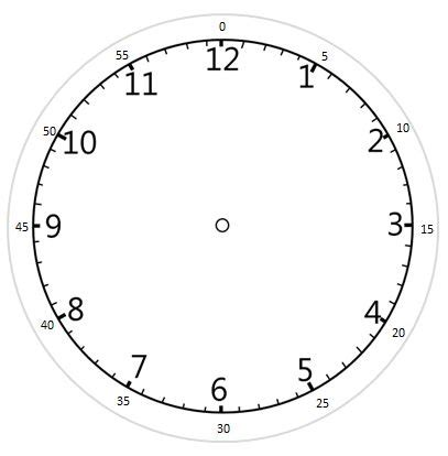 printable clock showing minutes a printable clock face with hands including minutes if
