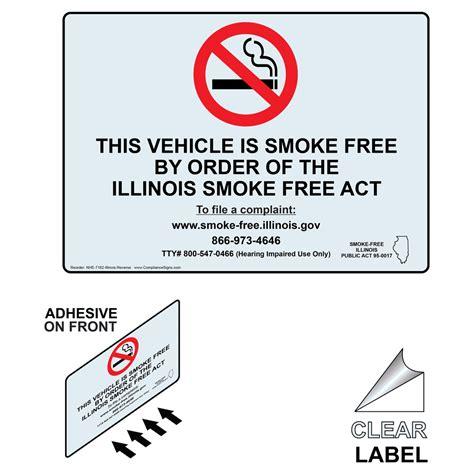 no smoking sign illinois no smoking signs and labels illinois no smoking