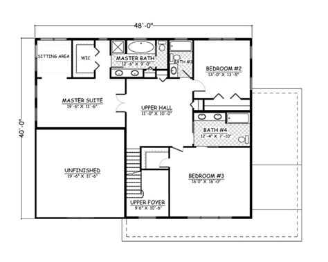 home design 40 40 colonial house plan 723098 ultimate home plans