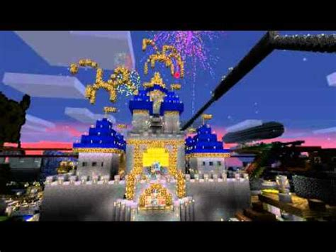 minecraft disney land castle youtube