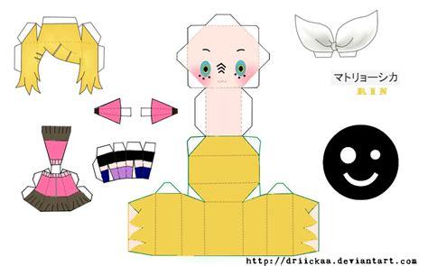 Vocaloid Papercraft - vocaloid chibi rin kagamine paper crafts