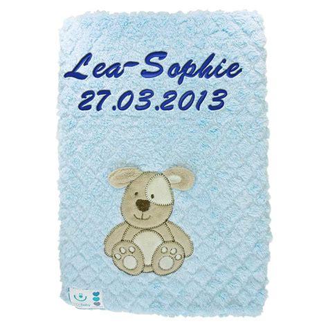 decke flauschig babydecke flauschig mit namen bestickt decke 76x102 cm
