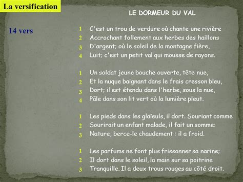Le Dormeur Du Val Tableau by S 233 Ance 4 Po 233 Sie Et Description Un Po 232 Me Comme Un Tableau
