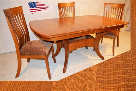 Dining Room Furniture Michigan Amish Dining Table Michigan Galveston Tabl With Solid Oak Dining Room Table Decor Ideas