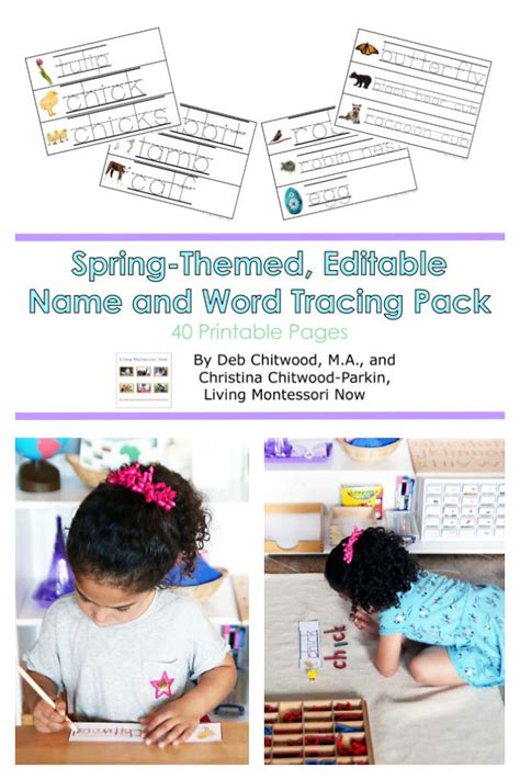 spring themed names spring themed editable name and word tracing pack