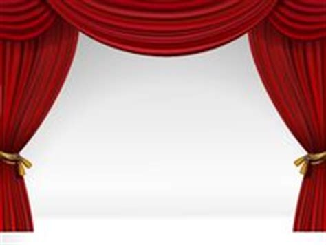 Tirai Teater open theatergordijnen op wit stock afbeeldingen