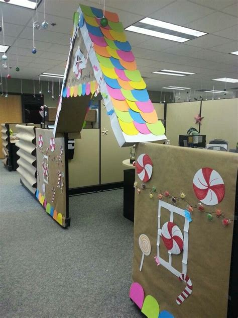 cubicle christmas decorations gingerbread house office