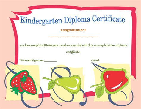 Kindergarten Diploma Template by Kindergarten Diploma Certificates Printable Templates