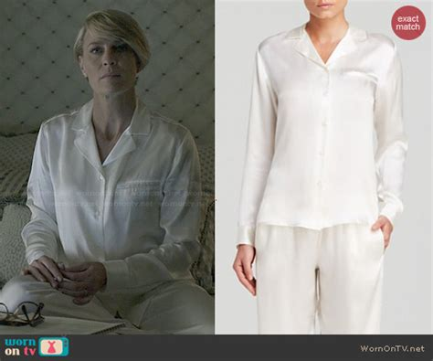 La Perla Gift Card - wornontv claire s white pajamas with pocket on house of cards robin wright