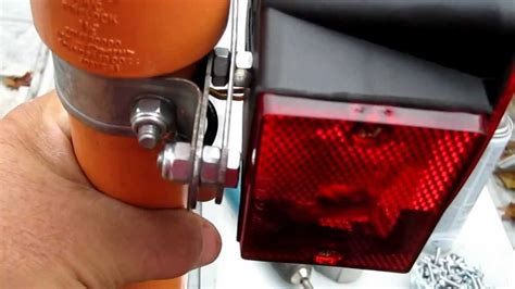 boat trailer guides with lights pole trailer lights