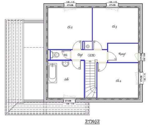 plan maison 騁age 3 chambres vision 118 m 178 type f5 catalogue constructeur maison