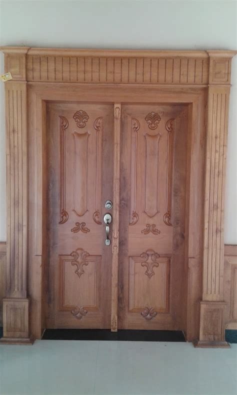 wooden door designs for indian homes images kerala style carpenter works and designs main entrance
