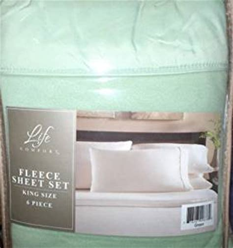 life comfort fleece sheet set com green king size 6 piece micro fleece 6 piece