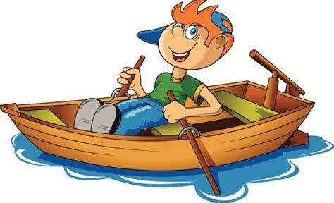 cartoon girl on boat row a boat clipart best