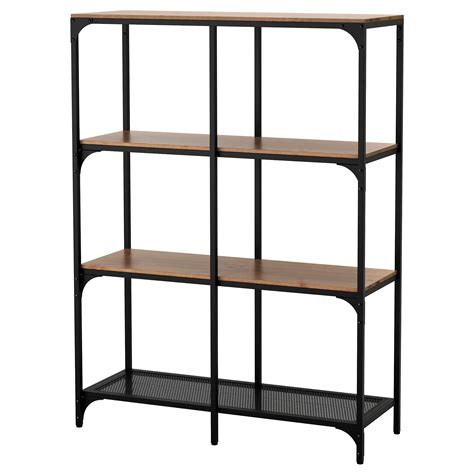 ikea shelving fj 196 llbo shelving unit black 100x136 cm ikea