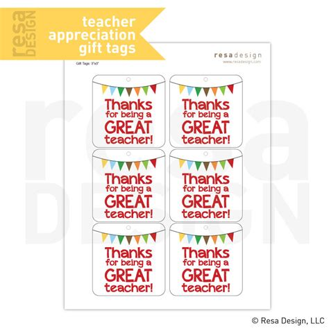 printable christmas gift tags for teachers teacher appreciation gift tags printable printable gift tags