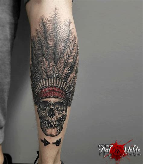 indian head tattoos indian skull www pixshark images galleries