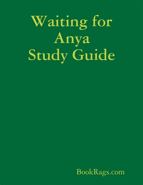 waiting for anya waiting for anya study guide by bookrags com on ibooks