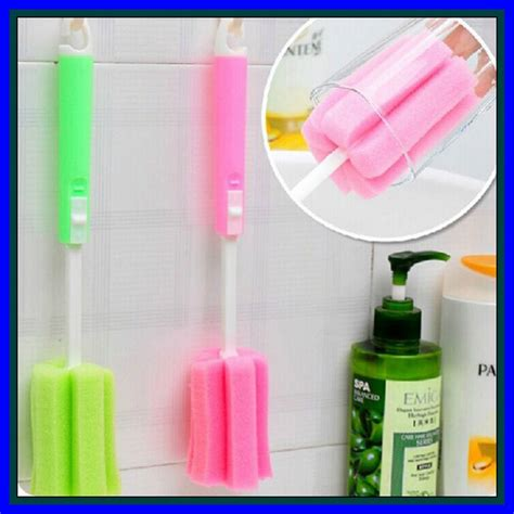 Sponge Pembersih Gelas Botol Tongkat Pembersih 1 Jual Beli Tongkat Spon Sikat Pembersih Cuci Botol Dot