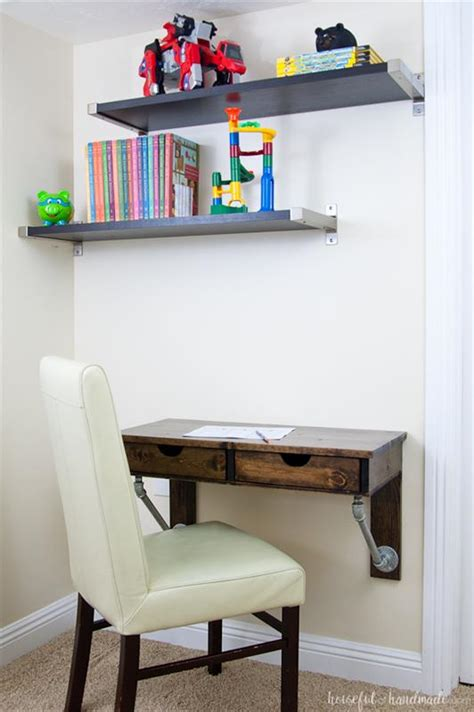 rustic industrial wall mounted desk buildsomethingcom