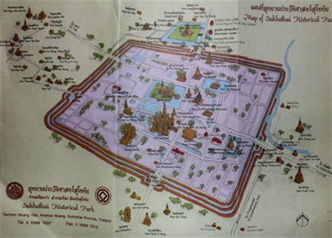 sukhothai historical park map sukhothai historical park guide