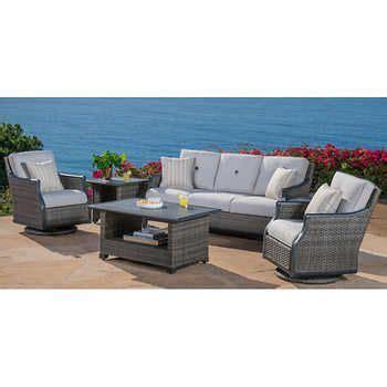 costco  lago brisa  piece deep seating set lanai     dining chairs
