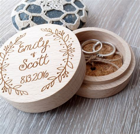 Wedding Ceremony Ring Box by Personalized Ring Box Wooden Ring Box Wedding Ring Box Ring