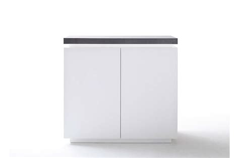 Commode Grise Et Blanche by Commode Contemporaine Blanche Et Grise 224 Led Cbc Meubles