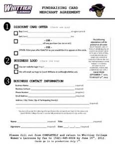 fundraising contract template discount card merchant agreement fill printable