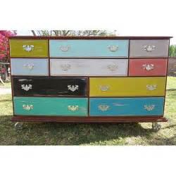 multi colored dresser industrial rustic multi colored dresser chairish
