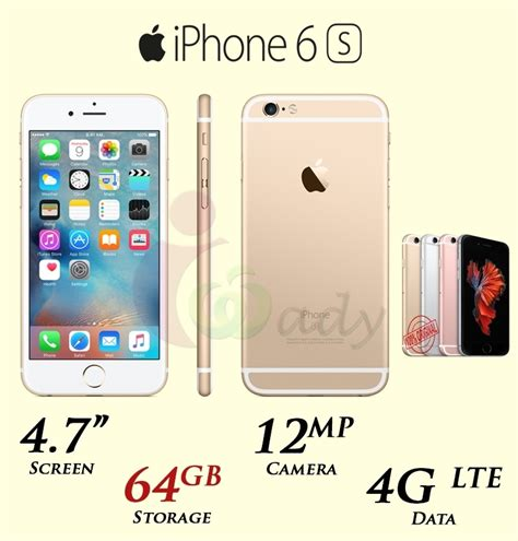 apple iphone 6s with facetime 64gb 4g lte v o r iwady