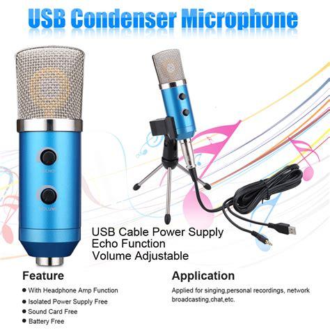 Stand Mic Recording By Gudangmic computer usb studio condenser microphone pc recording