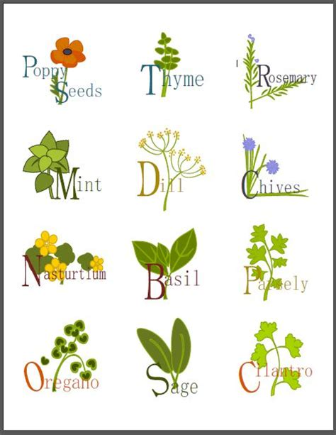 printable herb tags a collection of labels for your kitchen herbs by shy