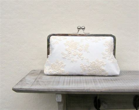 Vintage Lace Clutch From Again Nyc by Lace Bridal Clutch Ivory Wedding Clutch Clutch