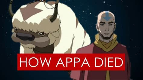 how appa died theory avatar the last airbender legend of