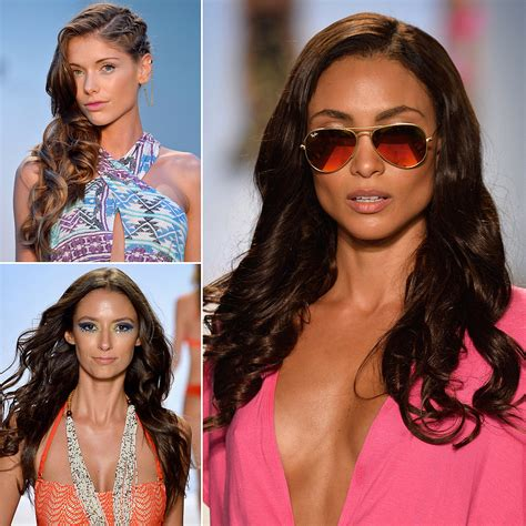 hair and makeup miami hair and makeup at miami swim week 2014 popsugar beauty