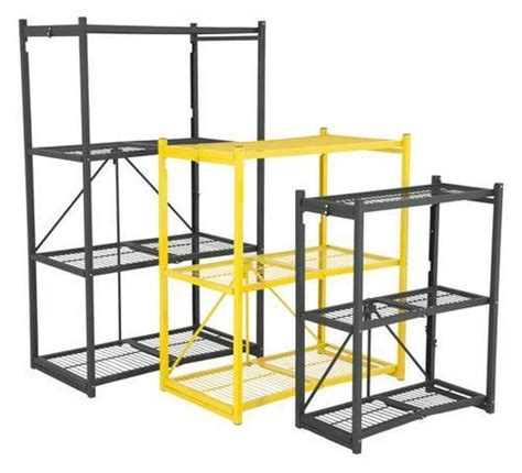 Origami Folding Shelves - folding shelving garage shelving steel origami shelving