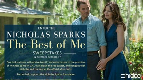 The Best Sweepstakes - nicholas sparks the best of me movie sweepstakes